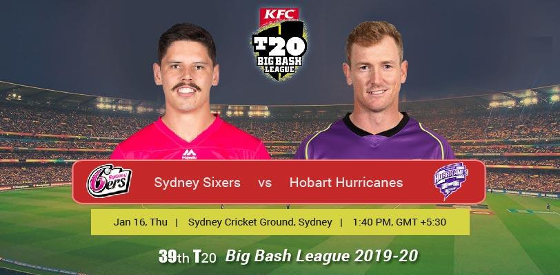 Sydney Sixers vs Hobart Hurricanes T20 Match Prediction ...