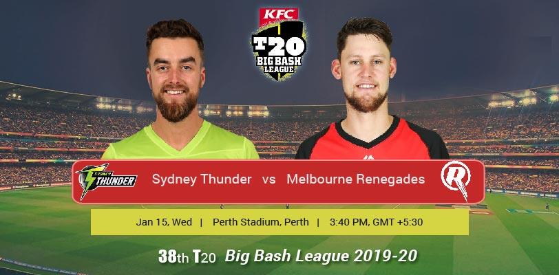 Sydney Thunder vs Melbourne Renegades