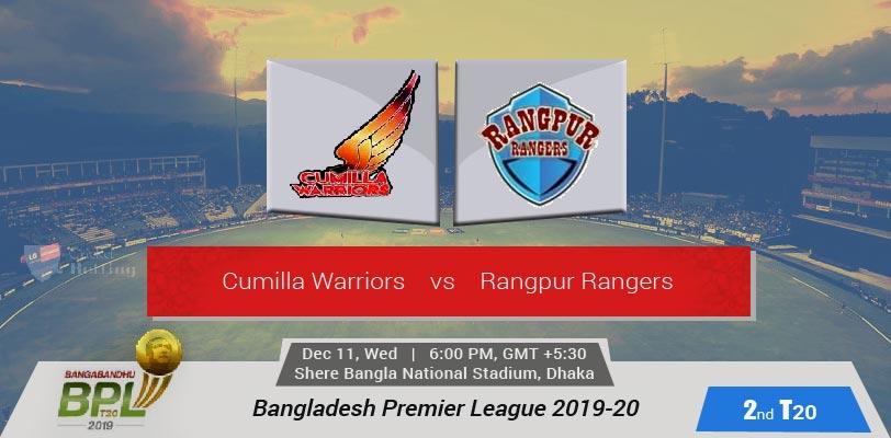 Cumilla Warriors vs Rangpur Rangers