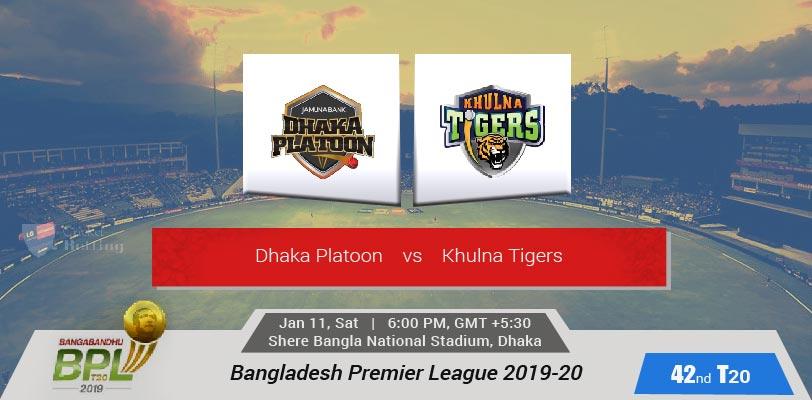 Dhaka Platoon vs Khulna Tigers