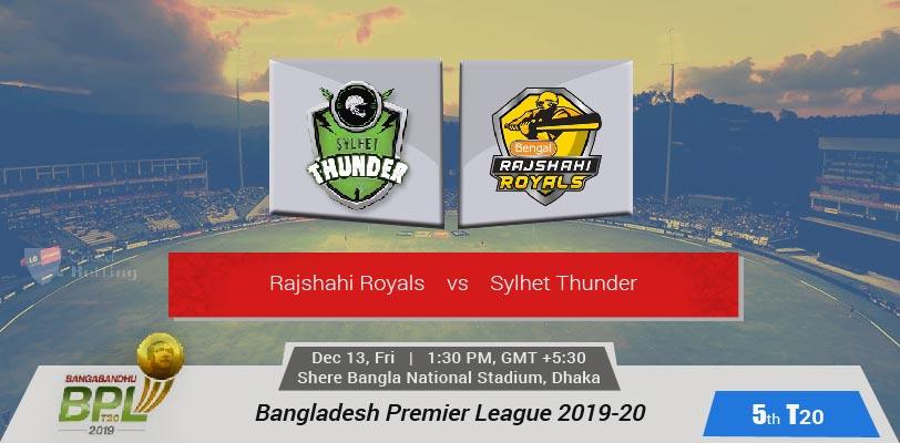 Rajshahi Royals vs Sylhet Thunder