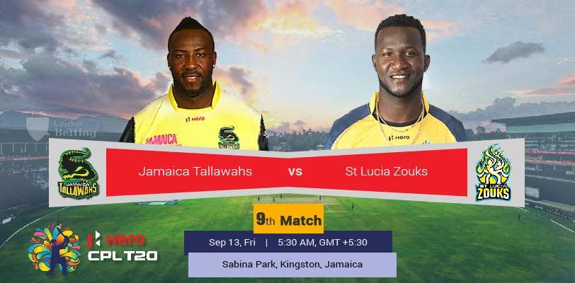 Jamaica Tallawahs vs St Lucia Zouks