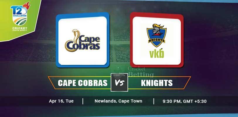Cape Cobras vs Knights