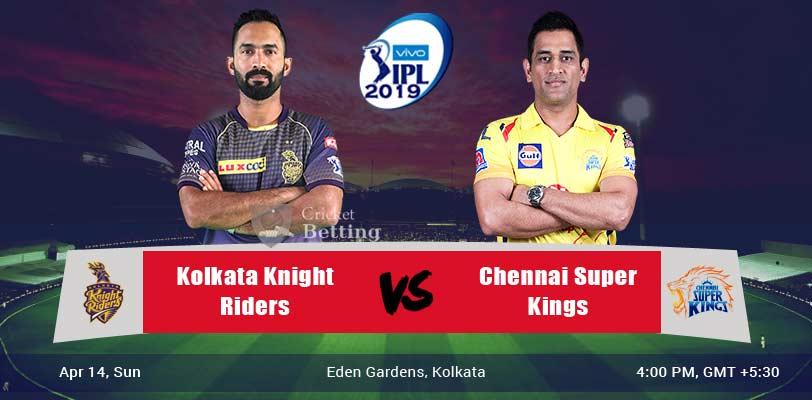 KKR vs CSK Match Prediction & Betting Tps - IPL 2019