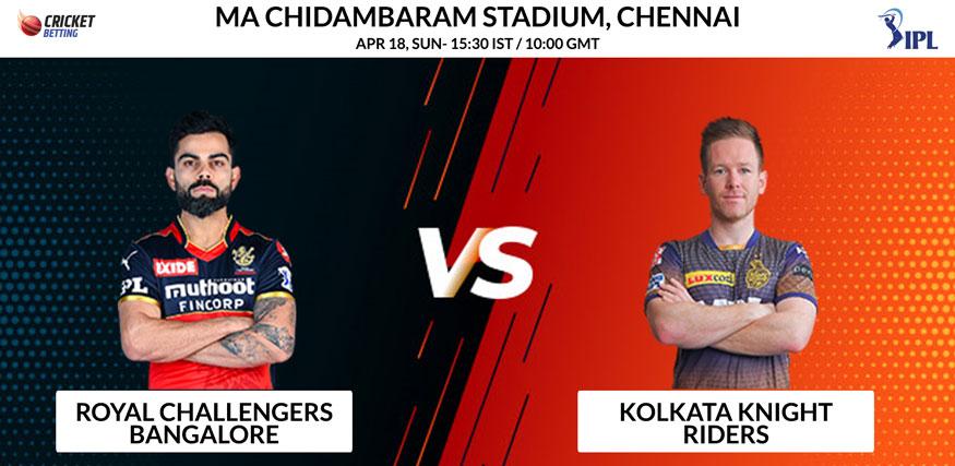 RCB vs KKR T20 Match Prediction & Betting Tips - IPL 2021
