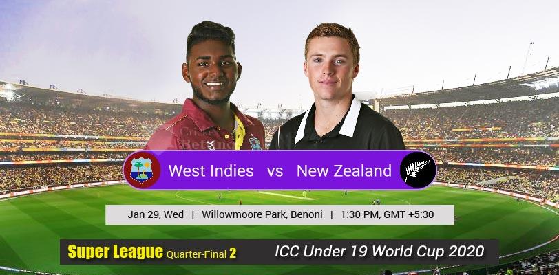West Indies U19 vs New Zealand U19