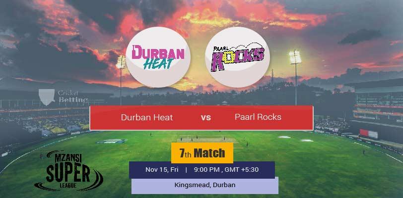 Durban Heat vs Paarl Rocks