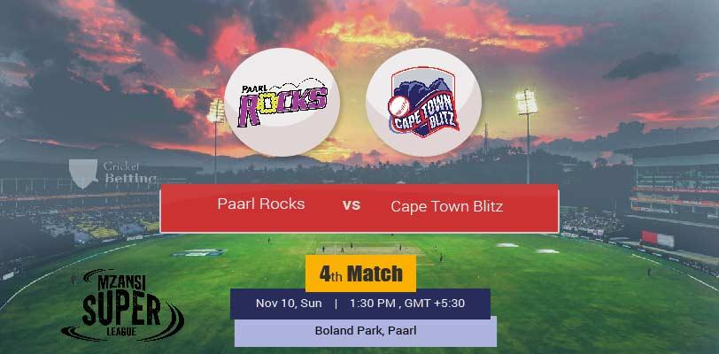 Paarl Rocks vs Cape Town Blitz
