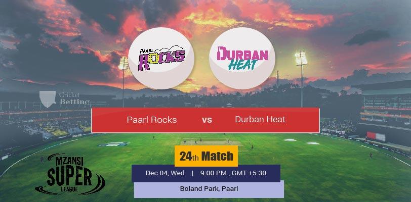 Paarl Rocks vs Durban Heat