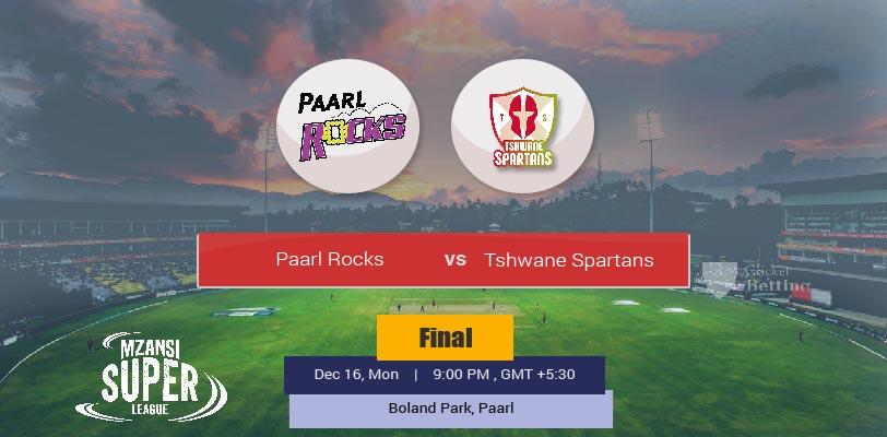 Paarl Rocks vs Tshwane Spartans