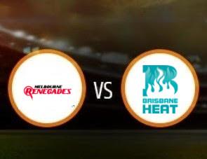 Melbourne Renegades vs Brisbane Heat BBL T20 Match Prediction
