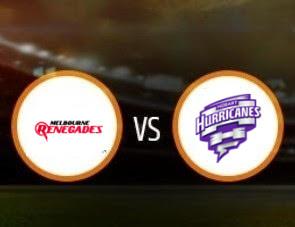 Melbourne Renegades vs Hobart Hurricanes BBL T20 Match Prediction