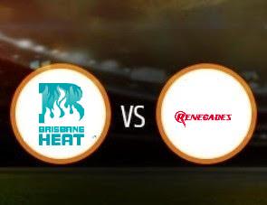 Brisbane Heat vs Melbourne Renegades BBL T20 Match Prediction
