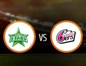 Melbourne Stars vs Sydney Sixers BBL T20 Match Prediction