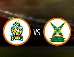 St Lucia Zouks vs Guyana Amazon Warriors Match Prediction