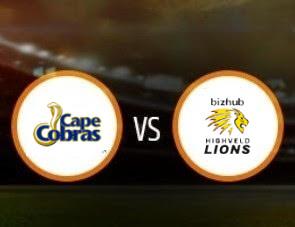 Cape Cobras vs Lions CSA T20 Match Prediction