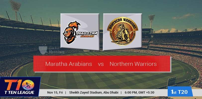 Maratha Arabians vs Northern Warriors
