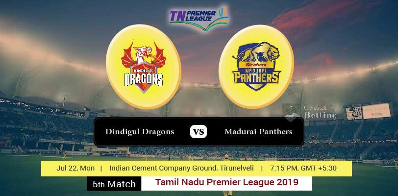 Dindigul Dragons vs Madurai Panthers Match Prediction & Dream11 Team