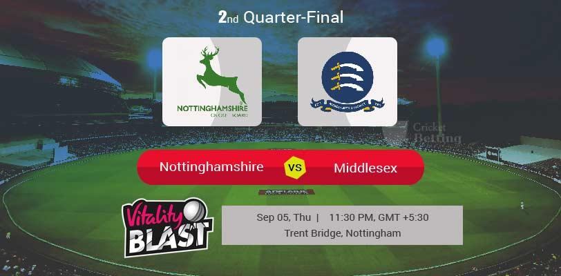 Nottinghamshire vs Middlesex