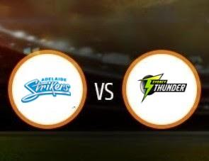 Adelaide Strikers vs Sydney Thunder BBL T20 Match Prediction
