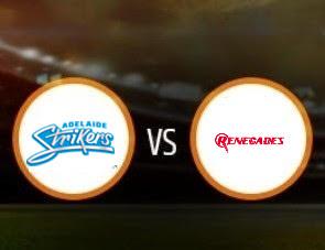 Adelaide Strikers vs Melbourne Renegades BBL T20 Match Prediction