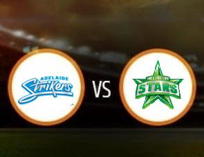 Adelaide Strikers vs Melbourne Stars BBL T20 Match Prediction