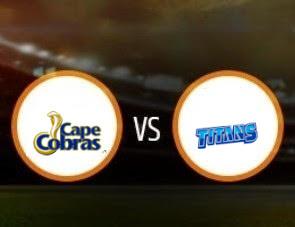 Cape Cobras vs Titans CSA T20 Match Prediction