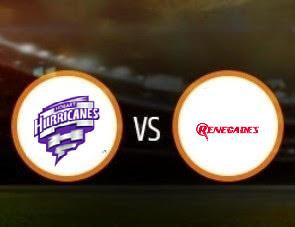 Hobart Hurricanes vs Melbourne Renegades BBL T20 Match Prediction