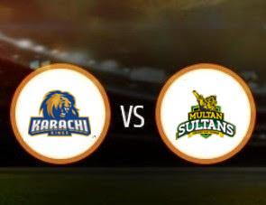 Karachi Kings vs Multan Sultans PSL T20 Match