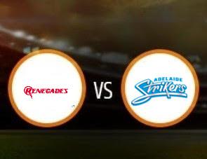 Melbourne Renegades vs Adelaide Strikers BBL T20 Match Prediction