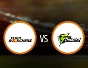 Perth Scorchers vs Sydney Thunder BBL T20 Match Prediction