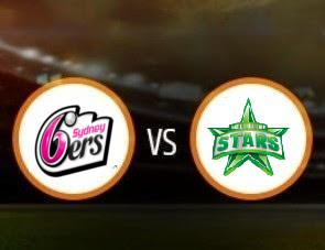 Sydney Sixers vs Melbourne Stars BBL T20 Match Prediction