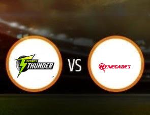 Sydney Thunder vs Melbourne Renegades BBL T20 Match Prediction
