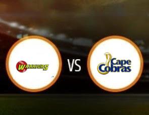 Warriors vs Cape Cobras CSA T20 Match Prediction
