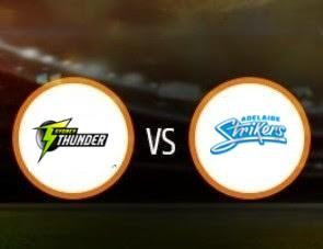 Sydney Thunder vs Adelaide Strikers BBL T20 Match Prediction