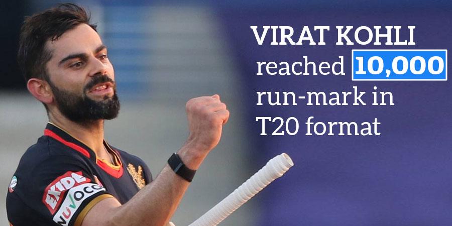 Virat Kohli reached 10,000 run-mark in T20 format